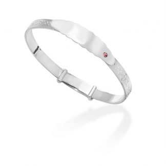 *ENGRAVED FREE WITH NAME* Sterling Silver Baby ID Bangle - SBA044B