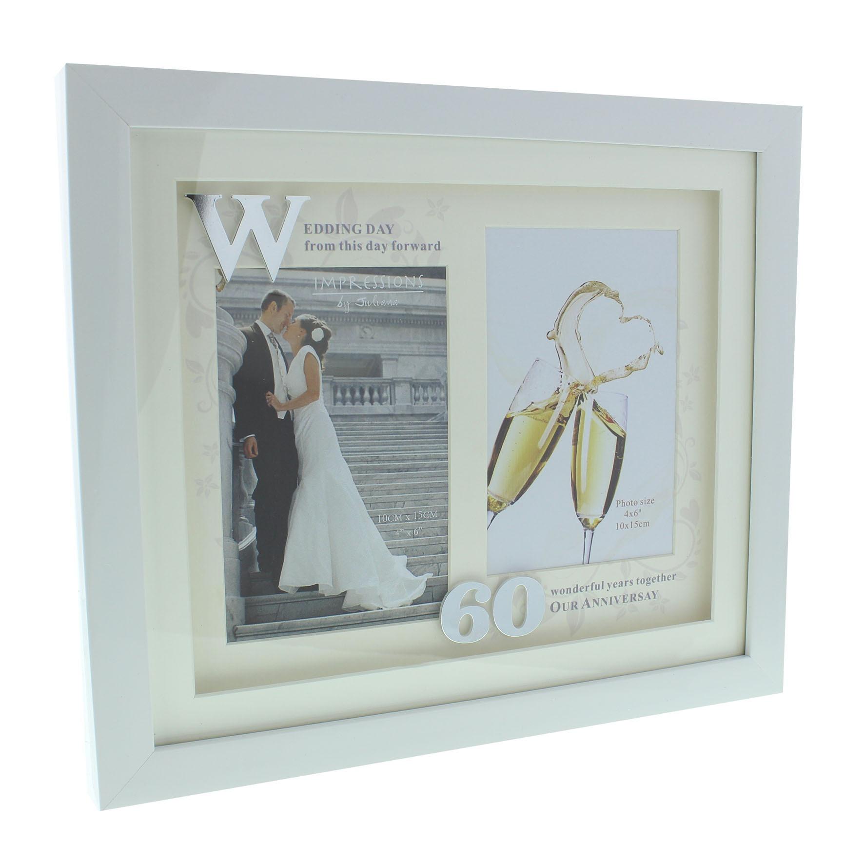 Juliana Diamond Wedding Anniversary Double Photo Frame Wg61260 Winning Awards
