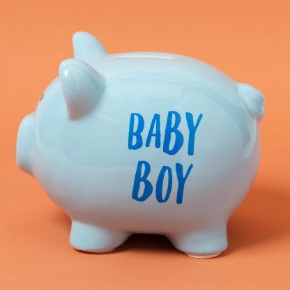 Ceramic Baby Boy Blue Piggy Money Bank - CG1544
