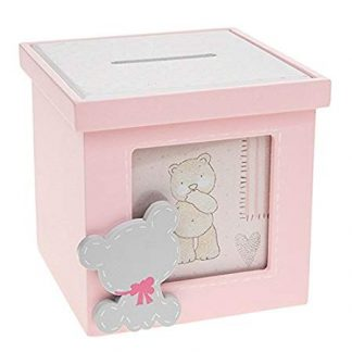 Cube Tiny Ted Pink Money Bank with Photo - 277644
