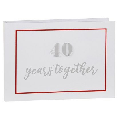 "6""x4"" Ruby Wedding Anniversary Photo Album - 297170"