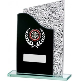 *NEW* Black Marble Mirror Glass Multi Sport Trophy - 3 Sizes - GE224