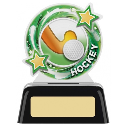 *NEW* Acrylic Hockey Trophy on Black Base - 2 sizes - PK105
