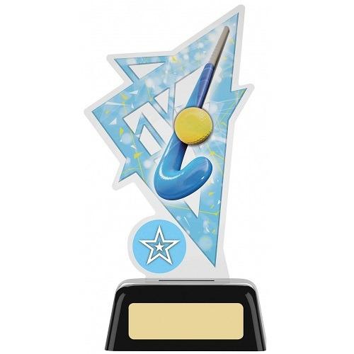 *NEW* Acrylic Hockey Trophy With Own Logo Option- 2 sizes - PK169