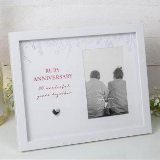 Amore Ruby Wedding Anniversary Photo Frame - AM11840