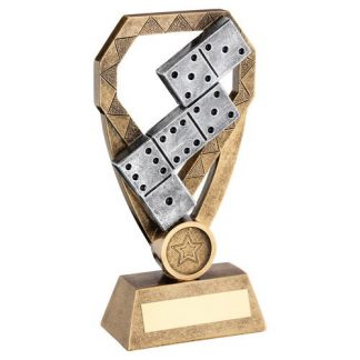 *NEW* Resin Dominoes Trophy With Own Logo Option- 3 sizes - RF939
