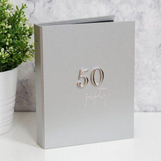 """5"""" x 7"""" 50th Birthday Milestones Photo Album - MS128"""