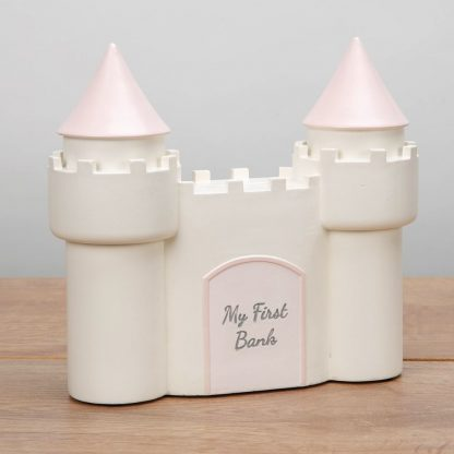 Baby Girl Pink 'My First Bank' Castle Money Box - CG1768