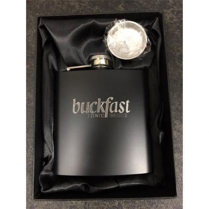 buckfast hipflask in gift box