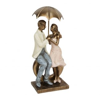 Rainy Day Collection Sitting Couple Ornament - 60554