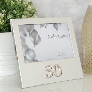 30th Birthday Aluminium Photo Frame with 3D Number - FA13530